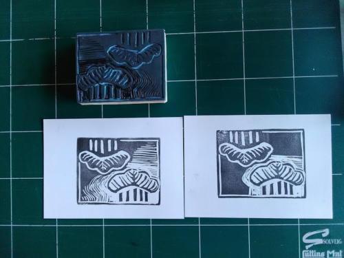 Stage de gravure sur gomme à tampon